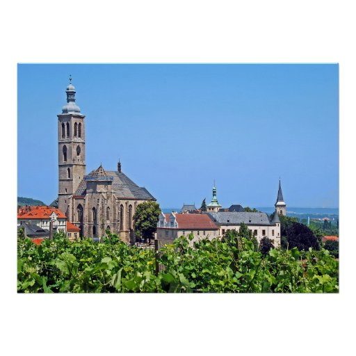 View of St. James in Kutna Hora. Poster