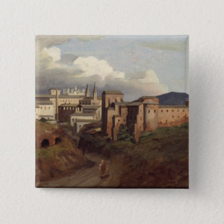 View of St. John Lateran, Rome, 1822 2 Inch Square Button
