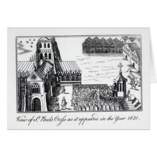 View of St. Paul's Cross Greeting Card