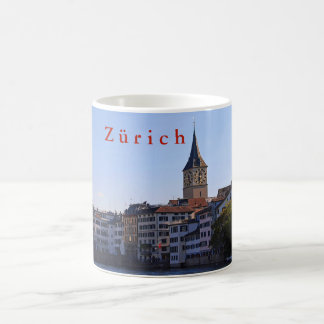 View of St. Peter's Church and Fraumunster. Coffee Mug