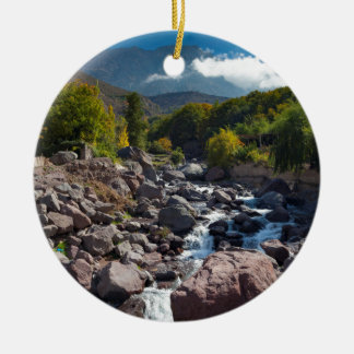 View of stream, Toubkal, High Atlas Mountains Ceramic Ornament