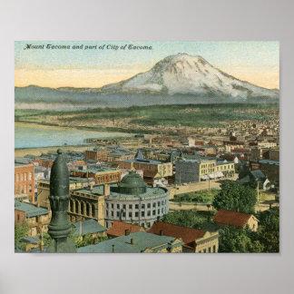 View of Tacoma, Washington 1911 Vintage Poster