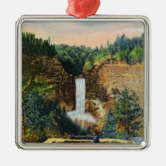 View of Taughannock Falls # 2 Metal Ornament