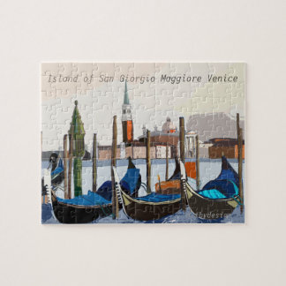 View of Tethered Gondolas from St Marks Square Jigsaw Puzzle