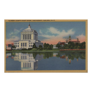 View of the Alameda County Court House Poster