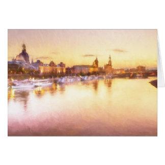 View of the Altstadt over the Elbe in Dresden Card