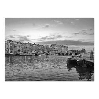 View of the Amstel River in Amsterdam Photo Print
