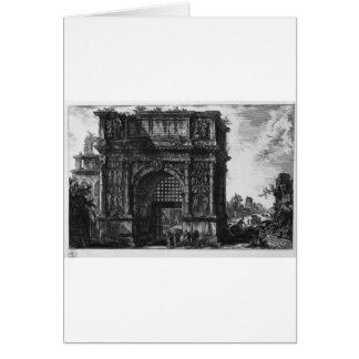 View of the Arch of Benevento in the Kingdom... Card