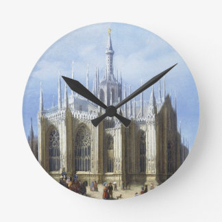 View of the back of Milan Cathedral from 'Views of Wall Clocks