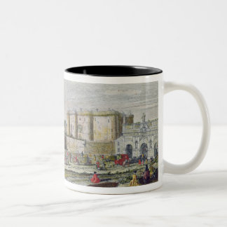View of the Bastille and the Porte Saint-Antoine Two-Tone Coffee Mug