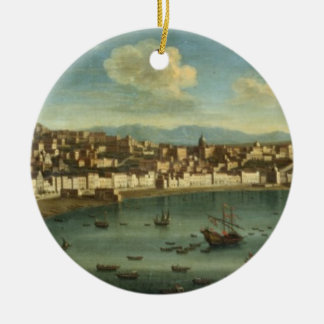View of The Bay of Naples from the Bay of Chiaia ( Ceramic Ornament