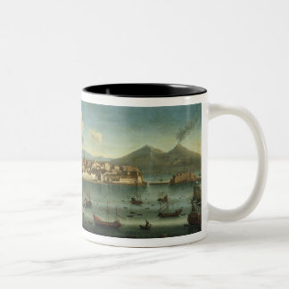 View of The Bay of Naples from the Bay of Chiaia ( Two-Tone Coffee Mug