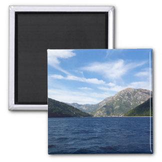 View of the Boka Kotorska bay, Montenegro Magnet