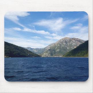 View of the Boka Kotorska bay, Montenegro Mouse Pad