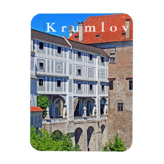 View of the bridge in Krumlov Castle. Magnet