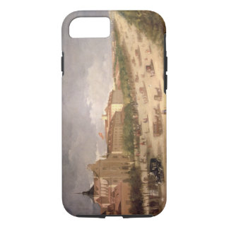 View of the Calle de Alcala, Madrid (oil on canvas iPhone 7 Case