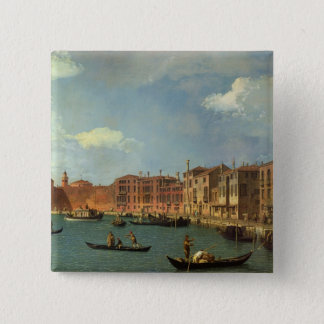 View of the Canal of Santa Chiara, Venice 2 Inch Square Button
