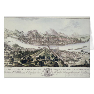 View of the Capital City and Fortress of Salzburg, Card