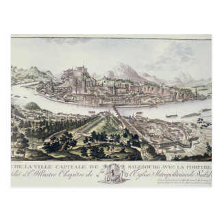 View of the Capital City and Fortress of Salzburg, Postcard