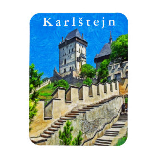View of the castle Karlštejn. Magnet