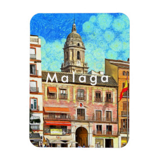 View of the Cathedral of Malaga. Magnet
