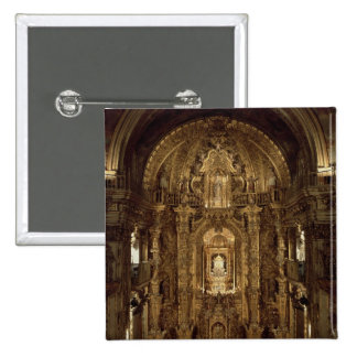 View of the chapel and High Altar 2 Inch Square Button