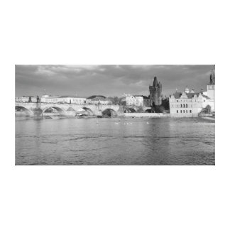 View of the Charles Bridge in Prague Canvas Print