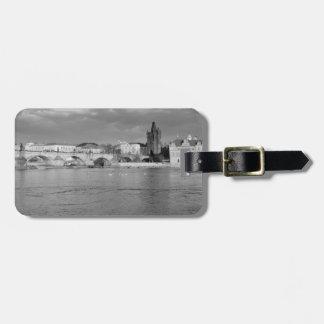 View of the Charles Bridge in Prague Luggage Tag