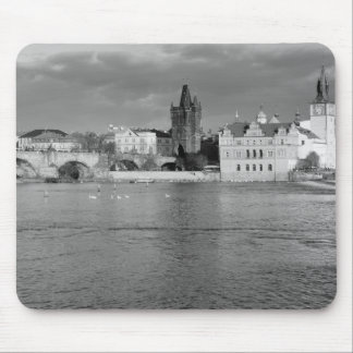 View of the Charles Bridge in Prague Mouse Pad