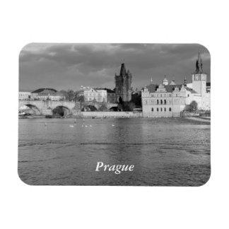 View of the Charles Bridge in Prague Rectangular Photo Magnet