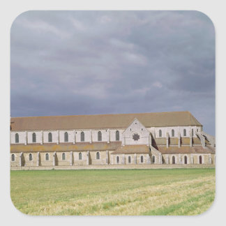 View of the Cistercian Abbey, built 1140-60 Square Sticker