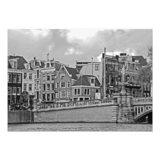 """View of the city in the """"blue bridge"""" area photo print"""