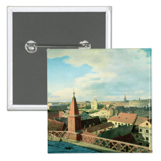View of the city of Berlin with Altes Museum 2 Inch Square Button