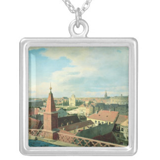 View of the city of Berlin with Altes Museum Silver Plated Necklace
