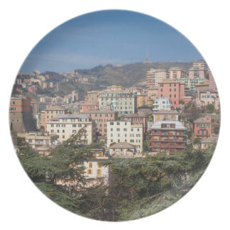 View of the city of Genoa Plate