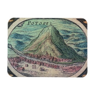 View of the city of Potosi, Bolivia, with its famo Rectangle Magnets
