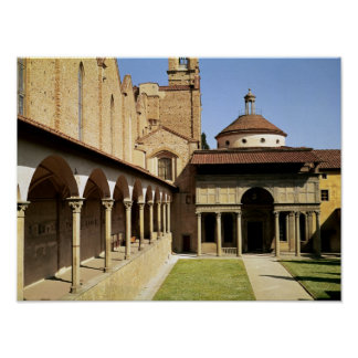 View of the cloisters and the Pazzi Chapel Poster