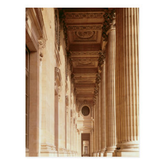 View of the colonnade of the Louvre Postcard
