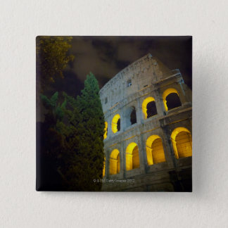 View of the Coloseum in Rome at night 2 Inch Square Button