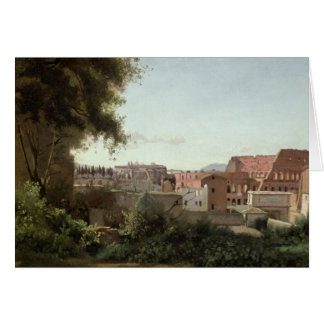 View of the Colosseum from the Farnese Gardens Card