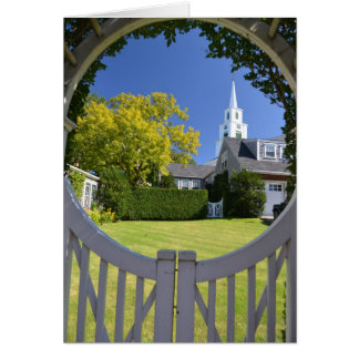 View of the Congregational Church of Nantucket Greeting Card