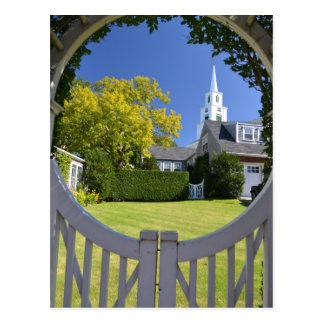 View of the Congregational Church of Nantucket Postcard