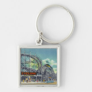 View of the Cyclone Rollercoaster # 2 Keychain