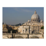 View of the dome of St Peter's Basilica with Postcard