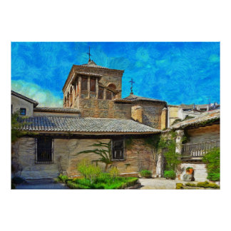 View of the El Greco Museum in Toledo Poster