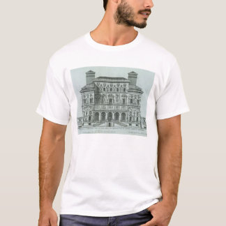 View of the facade of Villa Borghese, Rome (engrav T-Shirt