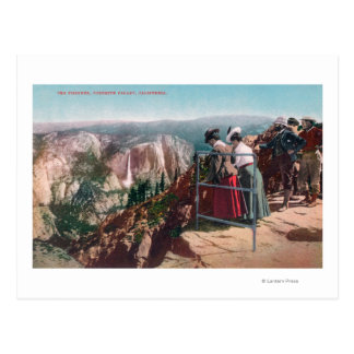 View of the Fissures and Yosemite Valley Postcard