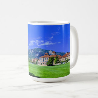 View of the Flatirons from the CU Boulder Campus Coffee Mug