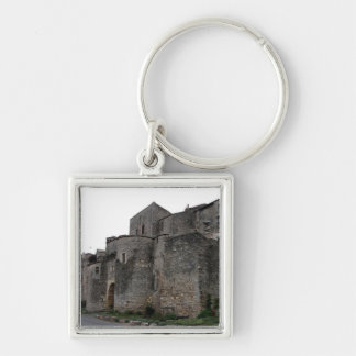 View of the fortified village (photo) 2 Silver-Colored square keychain