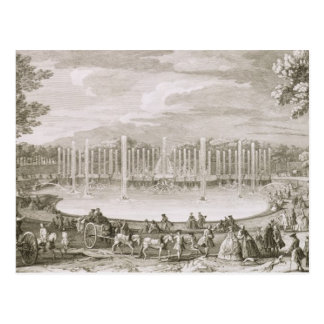 View of the Fountain of Neptune, Versailles (engra Postcard